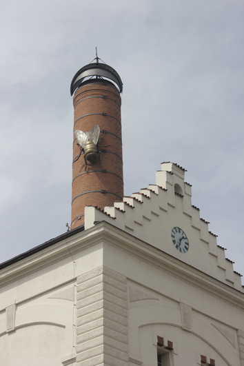 Fly on the chimney.