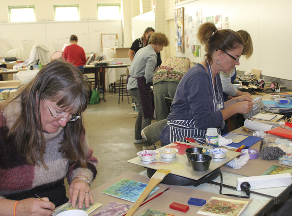 A very full and busy workshop.